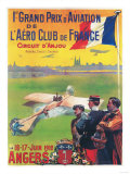 Angers, France - First Aviation Grand Prix - Pilot Taking Off Poster Prints by  Lantern Press