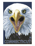 Connecticut - Eagle Up Close Prints by  Lantern Press