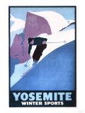 Yosemite National Park, California - Winter Sports Skiing Promotional Poster Prints