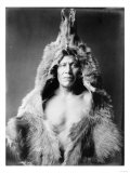 Arikara Indian Wearing Bear Skin Edward Curtis Photograph Prints by  Lantern Press