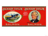 Zachary Taylor Brand Salmon Label Prints