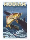 Kodiak, Alaska - Cutthroat Trout Cross-Section Prints by  Lantern Press