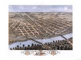 Attica, Indiana - Panoramic Map Prints