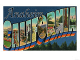 Anaheim, California - Large Letter Scenes Prints by  Lantern Press