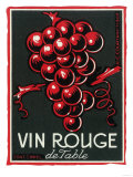 Vin Rouge De Table Wine Label - Europe Prints