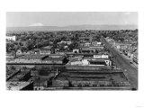 Yakima, WA Town View and Mt. Adams Photograph - Yakima, WA Prints by  Lantern Press