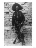 Volunteer Mexican Soldier with Rifle Photograph - Mexico Affischer av  Lantern Press