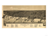 Ashland, Wisconsin - Panoramic Map Prints