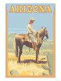 Cowboy - Arizona Art by  Lantern Press
