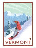 Vermont - Snowboarder Scene Prints