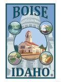 Boise, Idaho - Scenic Travel Poster Prints