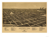 Antigo, Wisconsin - Panoramic Map - Antigo, WI Prints