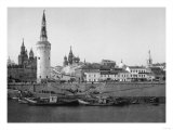 View of the Kremlin and the Moscow River Photograph - Moscow, Russia Prints by  Lantern Press