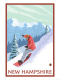 New Hampshire - Snowboarder Scene Prints