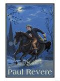 Boston, Massachusetts - Paul Revere's Ride Prints