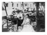 Woman with Baby and Public Letter Writer Photograph - Mexico Art