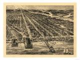 Asbury Park, New Jersey - Panoramic Map Art