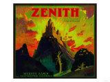 Zenith Orange Label - Whittier, CA Art by  Lantern Press
