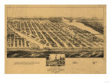 Asbury Park, New Jersey - Panoramic Map Prints by  Lantern Press