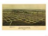 Ardmore, Oklahoma - Panoramic Map - Ardmore, OK Prints by  Lantern Press