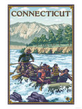 Connecticut - River Rafting Scene Prints by  Lantern Press