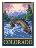 Fly Fishing Scene - Colorado Prints