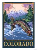 Fly Fishing Scene - Colorado Prints by  Lantern Press