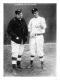 Washburn & Marquard Discuss Pitch, NY Giants, Baseball Photo - New York, NY Prints by  Lantern Press