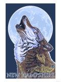 New Hampshire - Howling Wolf Art by  Lantern Press