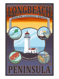 Long Beach, Washington - Travel Art by  Lantern Press