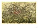 Atlanta, Georgia - Panoramic Map Prints