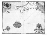 Map No. 1 Showing the Route of the Armada Fleet, Engraved by Augustine Ryther, 1588 Giclee Print by Robert Adams
