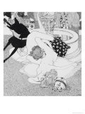 Lesbian Scene, from Plate 14 from La Grenouillere, c.1912 Giclee Print by Franz Von Bayros