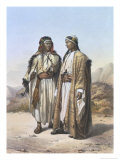 Mahazi and a Soualeh Bedouin, Illustration from The Valley of the Nile, Engraved by Charles Bour Reproduction procédé giclée par Achille-Constant-Théodore-Émile Prisse d'Avennes