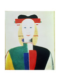 The Girl with the Hat Giclee Print by Kasimir Malevich