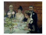The Corner of the Table, 1904 Giclee Print by Paul Chabas