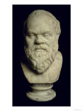 Bust of Socrates Giclee Print by Greek