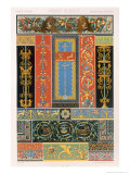 Greco Romain Style, Plate IX from Polychrome Ornament Published Paris , 1869 Giclee Print by Albert Charles August Racinet