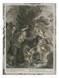 Orpheus, Leading Eurydice Out of Hell, Looks Back Upon Her and Loses Her Forever, 1731 Giclee Print by Bernard Picart