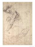 Male Figure Study Giclee Print by  Michelangelo Buonarroti