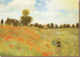 Field of Poppies, c.1886 Stretched Canvas Print by Claude Monet