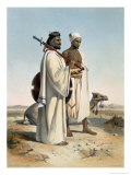 Ababda, Nomads, Eastern Thebaid Desert, Valley of the Nile, Engraved by Freeman, c.1848 Reproduction procédé giclée par Achille-Constant-Théodore-Émile Prisse d'Avennes