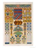 Egyptian Style, Plate II from Polychrome Ornament, Engraved by Pralon, Published Paris, 1869 Giclee Print by Albert Charles August Racinet