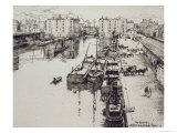 Bassin de La Villette, c.1903 Giclee Print by Eugene Bejot