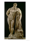 The Farnese Hercules, Roman Copy of Greek Original Reproduction procédé giclée par Lysippos
