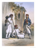 Nizamior, Turkish Army at Kanka, The Valley of the Nile, Engraved Mouilleron, c.1848 Reproduction procédé giclée par Achille-Constant-Théodore-Émile Prisse d'Avennes