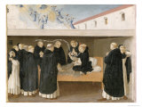 The Death of St. Dominic, from the Predella Panel of the Coronation of the Virgin, c.1430-32 Giclee Print by Fra Angelico