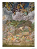 Olympus and Zeus Destroying the Rebellious Giants, Walls of the Sala Dei Giganti, 1530-32 Giclee Print by Giulio Romano