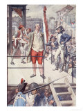 I Die Innocent, I Pardon My Enemies, Plate from The Story of France, c.1920 Giclee Print by William Rainey
