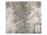 Map of Florence, 1584 Giclee Print by Stefano Bonsignori